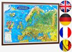 Europe. Illustrated Map for Children (3D projection)
