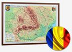 Romania and Republic of Moldova. Physical and Administrative Map